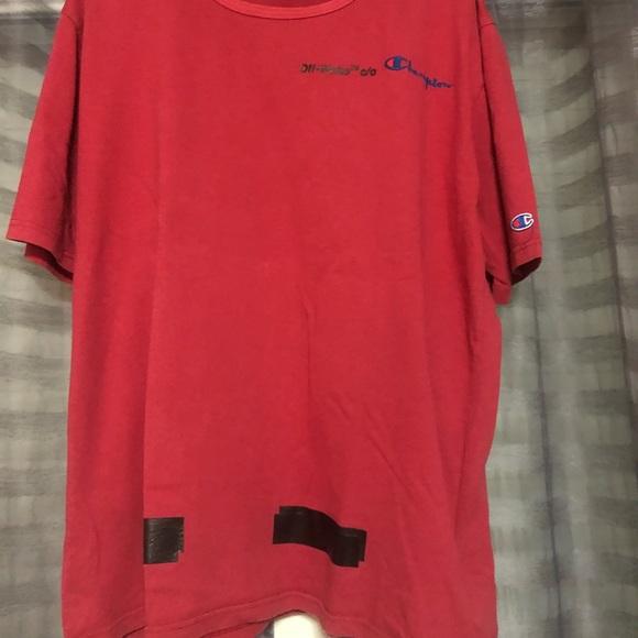 891e0fc2 Off-White Tops | Offwhite X Champion Tee Shirt | Poshmark